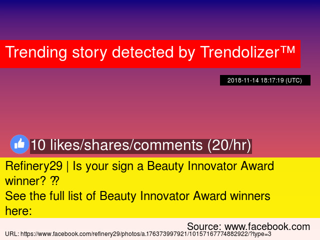 Refinery29 | Is your sign a Beauty Innovator Award winner
