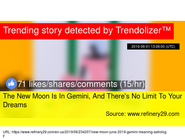 The New Moon Is In Gemini, And There'