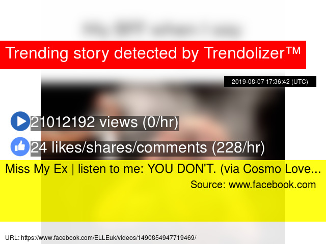 Miss My Ex | listen to me: YOU DON'T  (via Cosmo Love
