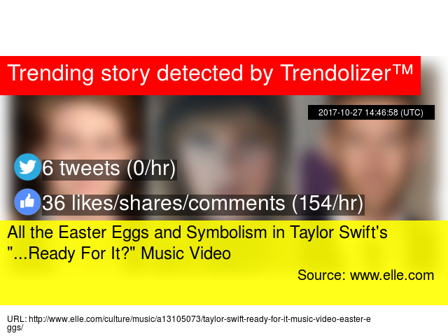 All The Easter Eggs And Symbolism In Taylor Swift039s Quot