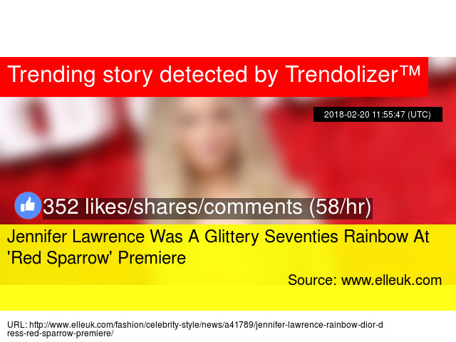 Jennifer Lawrence Was A Glittery Seventies Rainbow At '