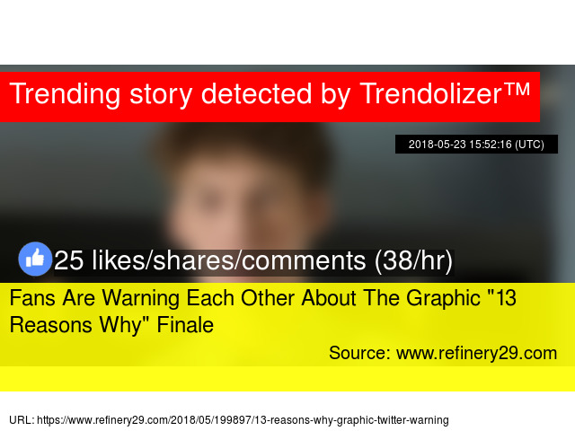 Fans Are Warning Each Other About The Graphic Quot 13 Reasons