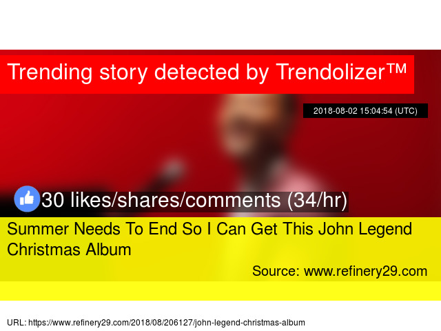 summer needs to end so i can get this john legend christmas album - John Legend Christmas Album